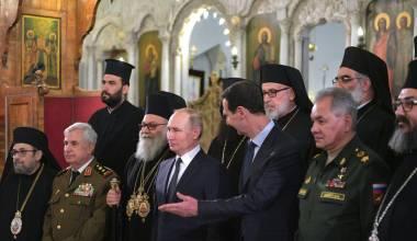 A Visita de Natal Ortodoxo de Putin a Damasco - Síria em Paz, Enquanto o Resto do Oriente Médio Arde