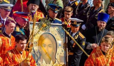 Putin Personally Paid to Have an Icon of Christ Made for Russian Armed Forces