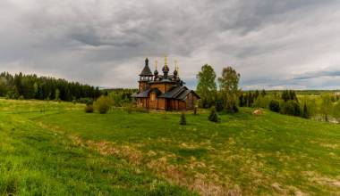 Pic of the Day - Wooden Church 'In the Name of All Saints', Merkushino, Russia, September 3, 2019
