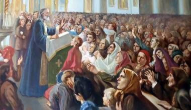 People Publicly Confessing Sins in Church, with St. John of Kronstadt