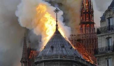 After 800 Years & Two World Wars, Now The Cathedral Burns