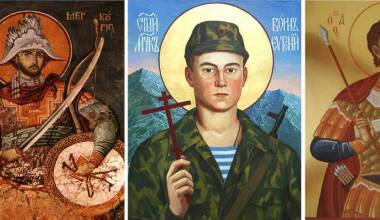 Russian Warrior Saints who Carry Guns, Knives, and Other Dangerous Weapons
