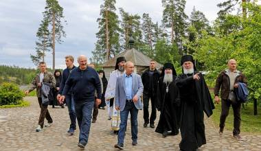 Great Video of Putin Visiting One of Most Important Russian Monasteries, Near St. Petersburg (Valaam)
