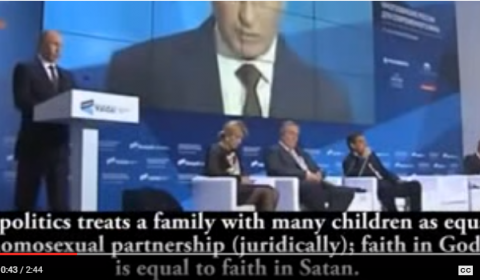 Putin in 2013: EU's Christianity Phobia Means Certain Social Catastrophe (Video)