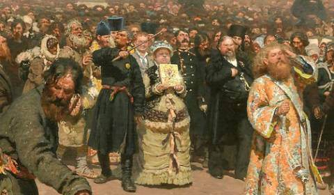 'Religious Procession in Kursk' (Ilya Repin,1883) - GREAT RUSSIAN CHRISTIAN ART