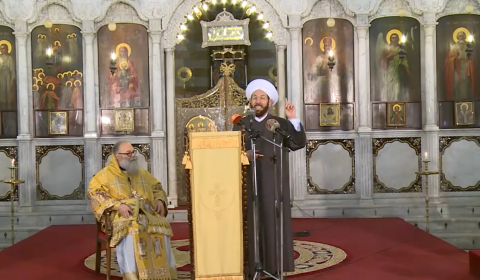 Orthodox Patriarch of Antioch Invites Muslim to Speak Blasphemy Inside Church, Exchanges Kiss of Peace Afterwards