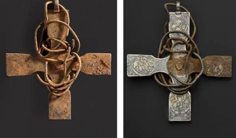 Freed of 1,000 Years of Grime, Anglo-Saxon Cross Emerges in Stunning Detail