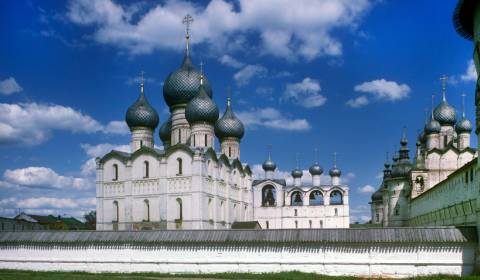 Rostov's Ancient Cathedral Bell Tower: Beloved Treasure of the Russian North