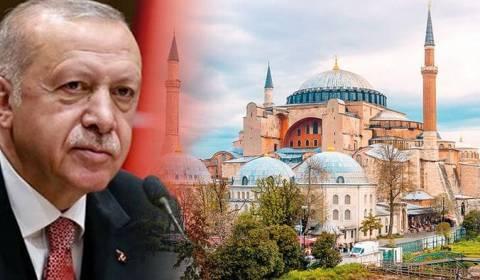 Erdogani urdhëron një studim të mundësive për ta kthyer  Agia Sofian në një xhami përsëri