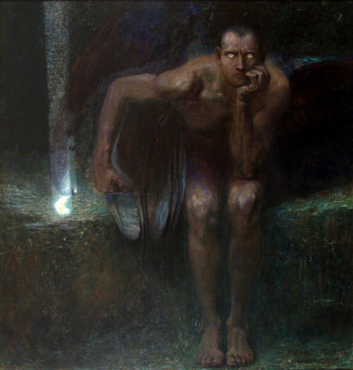 Lucifer, by Franz Von Stuck